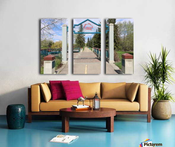 Red Willow Trail Split Canvas print