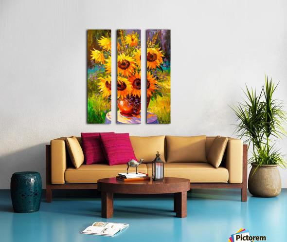 A bouquet of sunflowers Split Canvas print