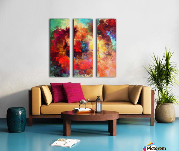 Whirling of Roses Split Canvas print