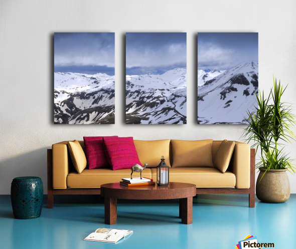 Grossglockner High Alpine Road Split Canvas print
