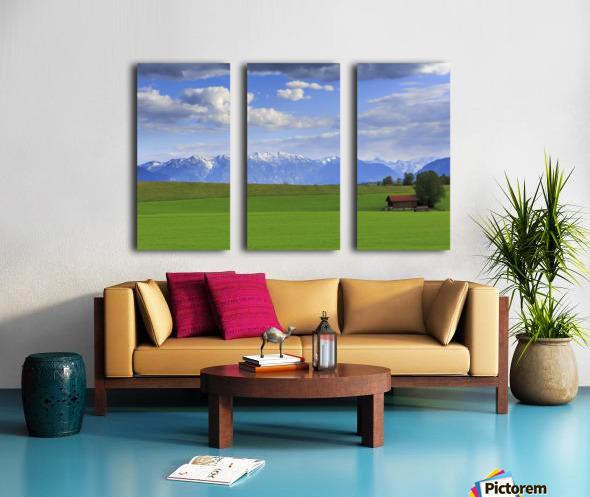 Green Fields Split Canvas print