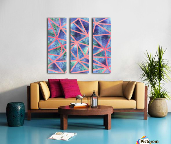 Geometric XXXIII Split Canvas print