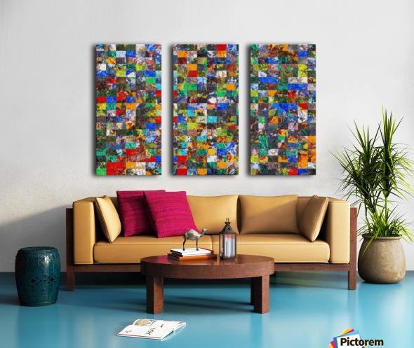 The Wall of Random Bricks Split Canvas print