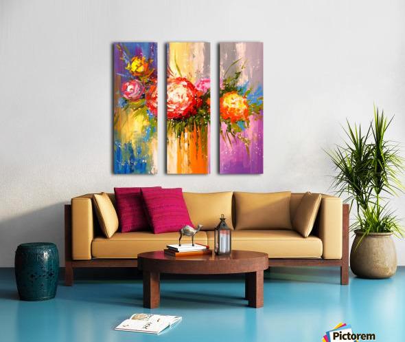 Bouquet of flowers Split Canvas print