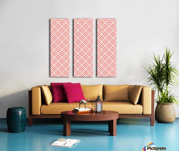 Living Coral Pattern I Split Canvas print