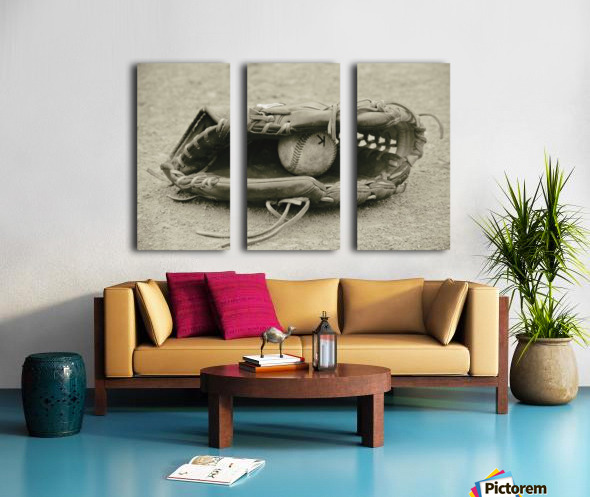 First Love 3 in Sepia Split Canvas print