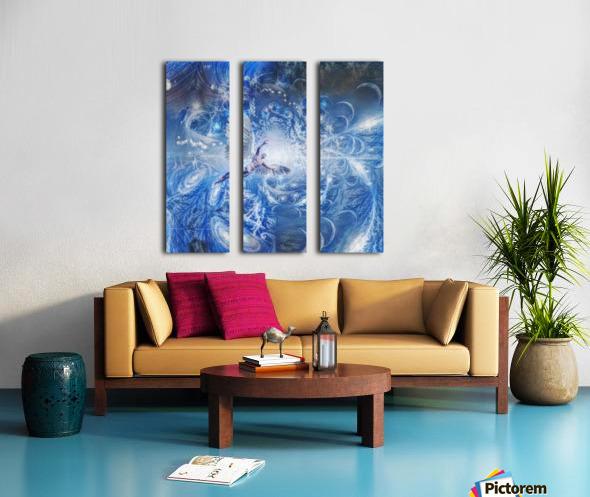 Angel in Space Tunnel Split Canvas print