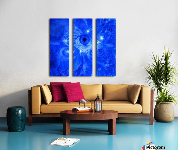 Eye and Stars Split Canvas print