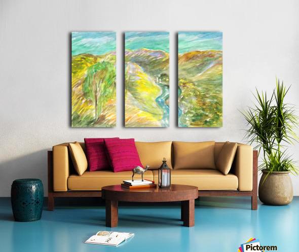 Golden summer days Split Canvas print