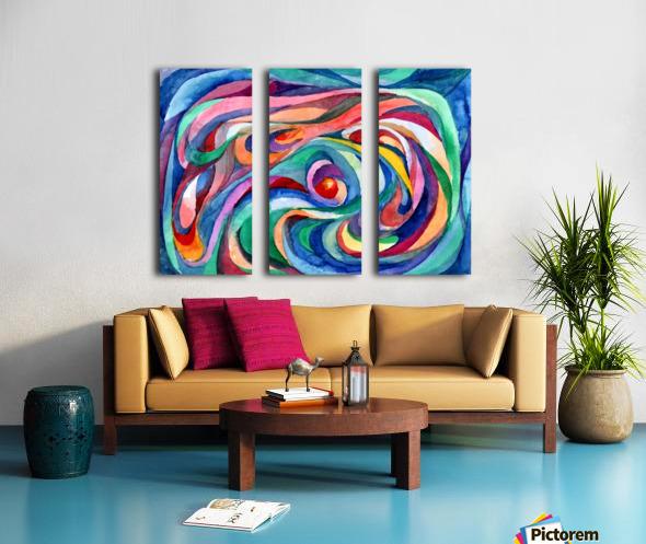 Abstract underwater world Split Canvas print