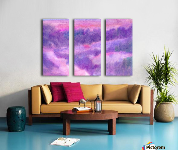 Sunrise abstraction Split Canvas print