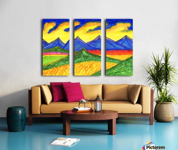 Fantastic mountain landscape Split Canvas print