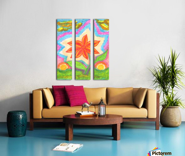 Magic scarlet flower  Split Canvas print