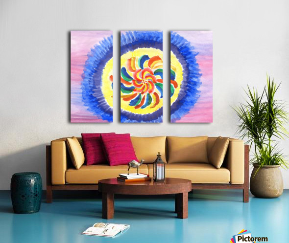 Perpetual motion abstract Split Canvas print