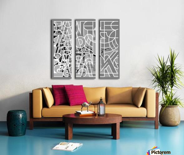 Type Is Deviant - Typography Art Print Split Canvas print