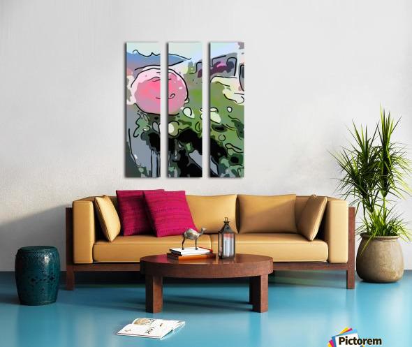 Pink Rose Garden on Braddock Drive Split Canvas print