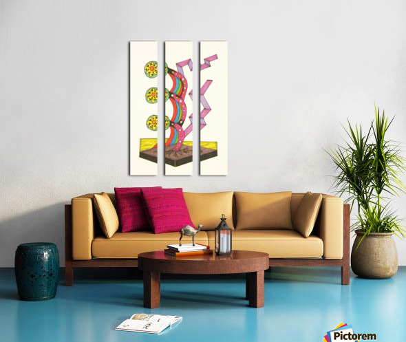 Odd Growth of Shapes Split Canvas print