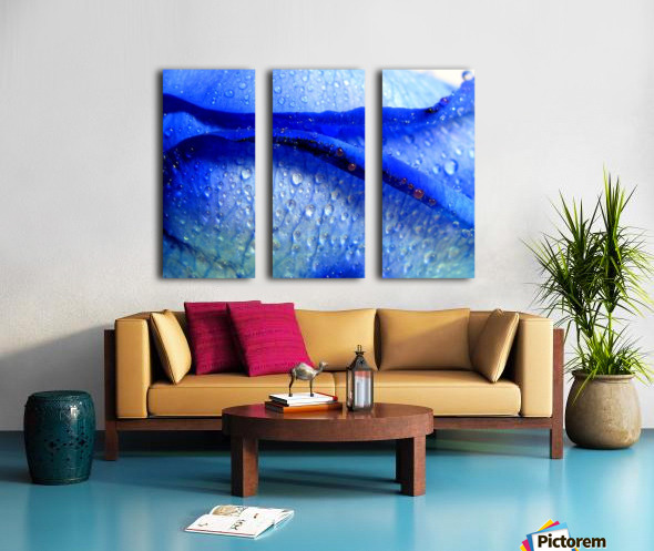 Blue Lips Split Canvas print