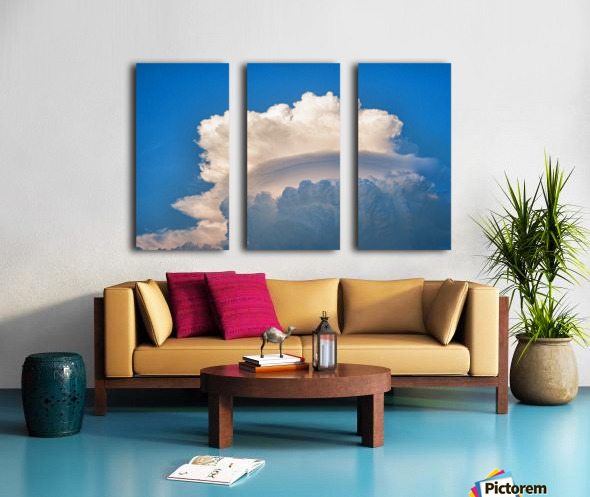 Atomic Cloud Split Canvas print