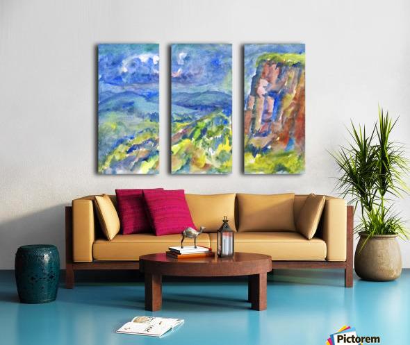 Summer landscape with cliff Split Canvas print