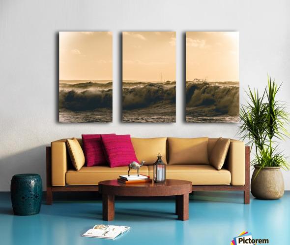 High seas and Light house Split Canvas print