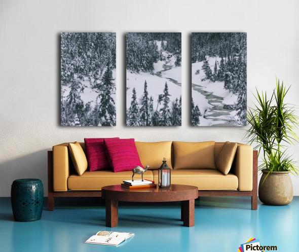 Frozen river. Split Canvas print