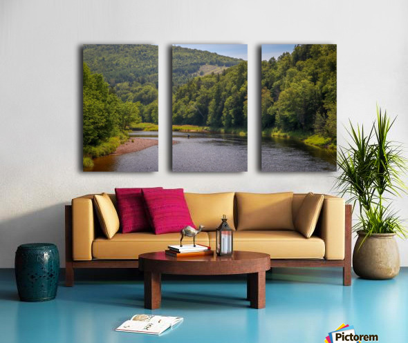 Doyles Bridge Margaree river Split Canvas print
