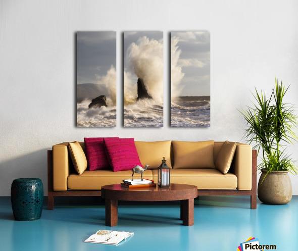 Exploding rocks Split Canvas print