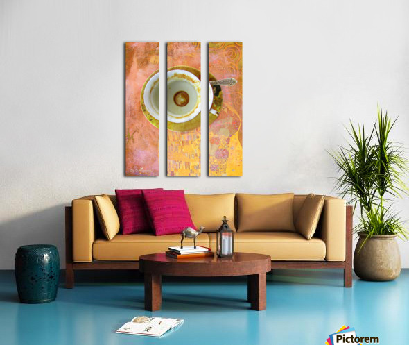 Coffee with Klimt Split Canvas print