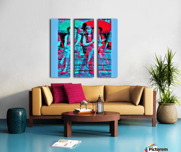 The Umbrella Girls by neil gairn adams  Split Canvas print