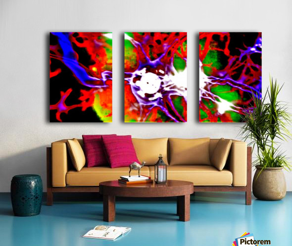Inside DNA by neil gairn adams  Split Canvas print