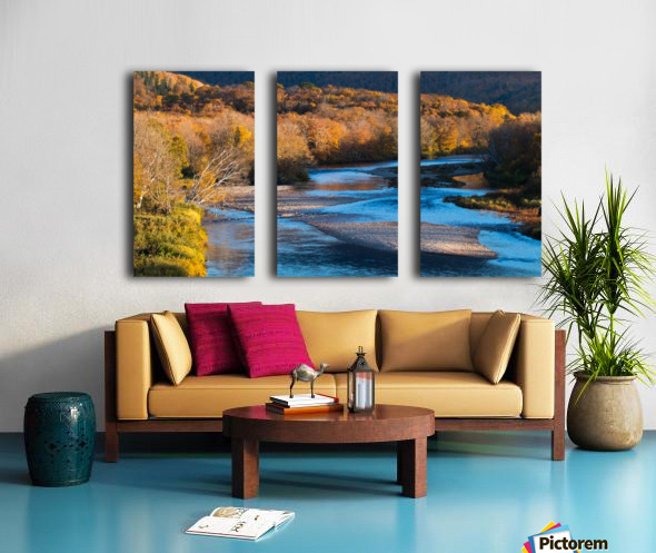 Cheticamp river Cape Breton highland national park Split Canvas print