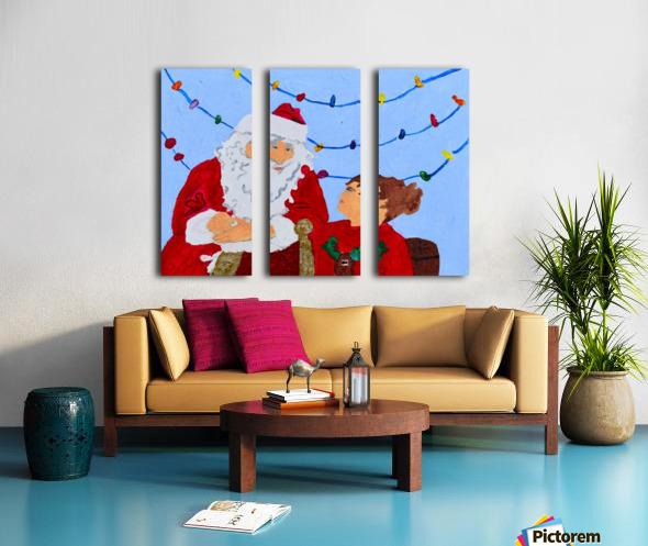 Christmas Eve. David K Split Canvas print