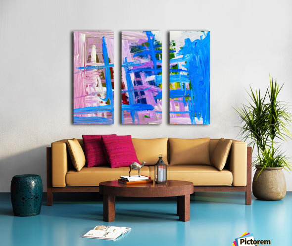 Blue Cascade. Katie J Split Canvas print
