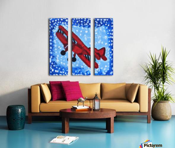 Airplane. David K Split Canvas print