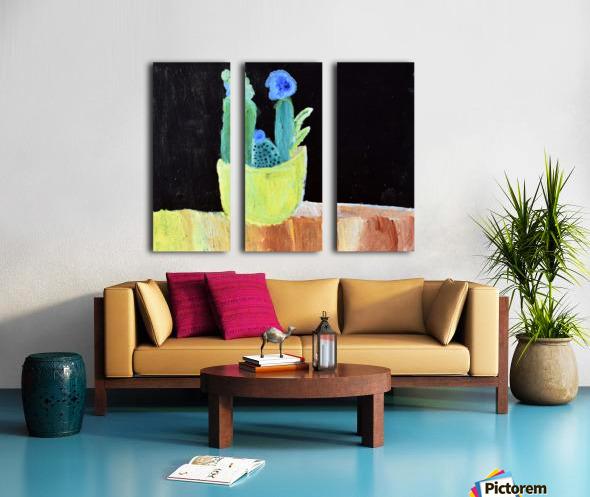 Blue Flower. Marie H Split Canvas print