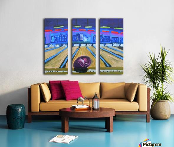 Bowling Alley. David K Split Canvas print