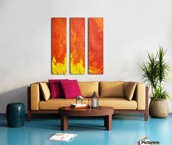Fire in the Sky. Tala S Split Canvas print