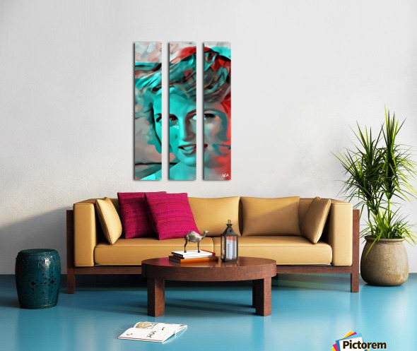Princess Diana - by Neil Gairn Adams Split Canvas print
