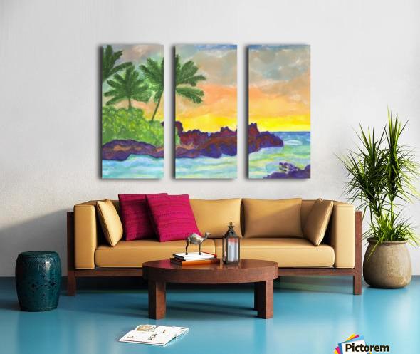 Tropical island in the ocean Split Canvas print