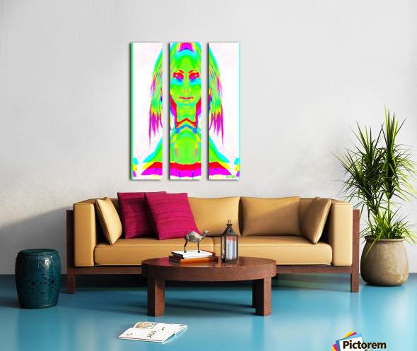Lady in Green 2 -  by Neil Gairn Adams Split Canvas print