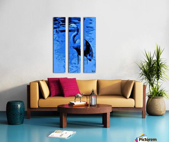 Bird in the Water -  by Neil Gairn Adams Split Canvas print