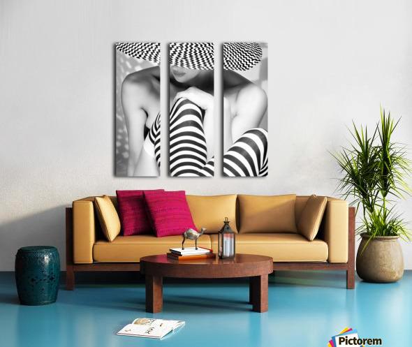 Zagging that Zig Split Canvas print