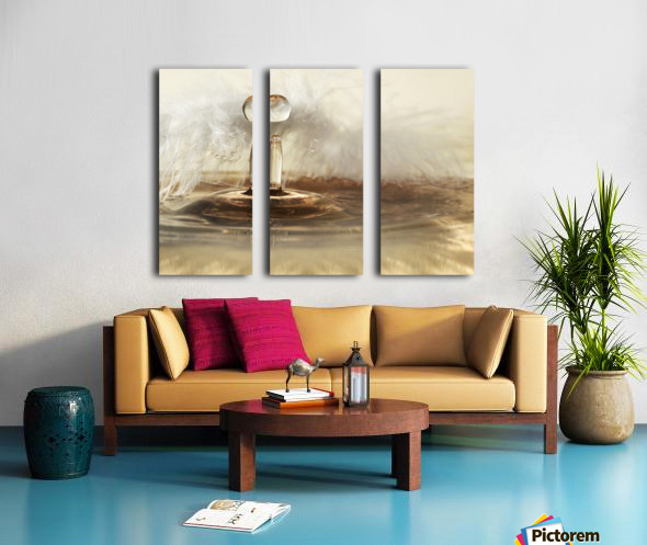 Golden featherdrops Split Canvas print