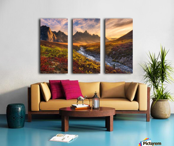 Mountain Paradise Split Canvas print
