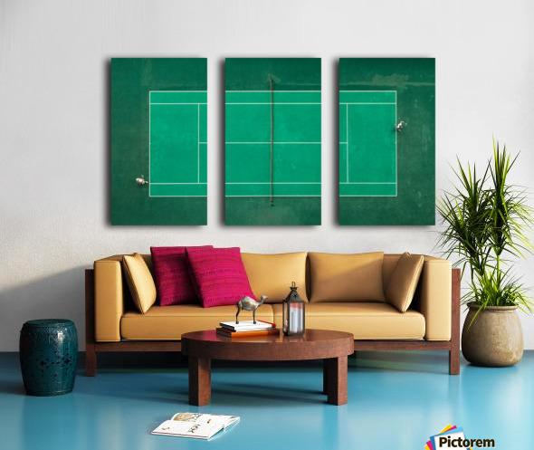 Game Set Match Split Canvas print