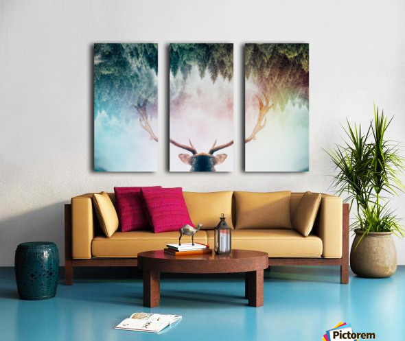 Antler Split Canvas print