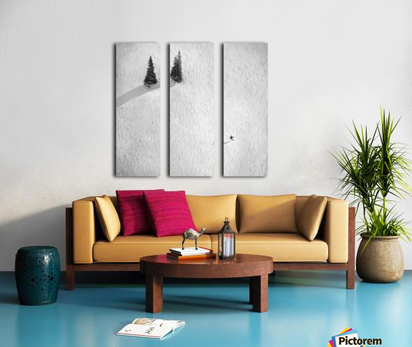 Drawing his own Split Canvas print