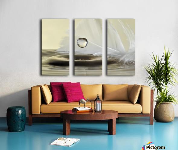 Feathers drop Split Canvas print