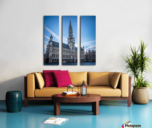 Town Hall in the Grand Place - Belgium Split Canvas print
